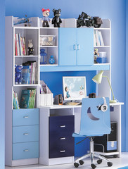 "Комплект ""Бамбино (Bambino)"" (MK-4603-BL Письменный стол + MK-4604-BL. Стул ученический) —  Синий"