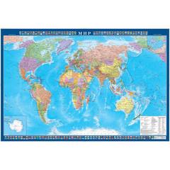 Настенная карта Мир 1,0х0,7м 1:34млн политическая