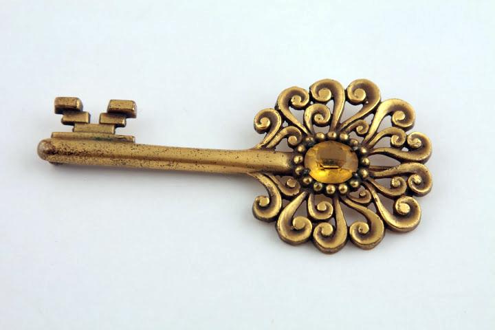 Редкая брошь «Ключ» от Joseff of Hollywood