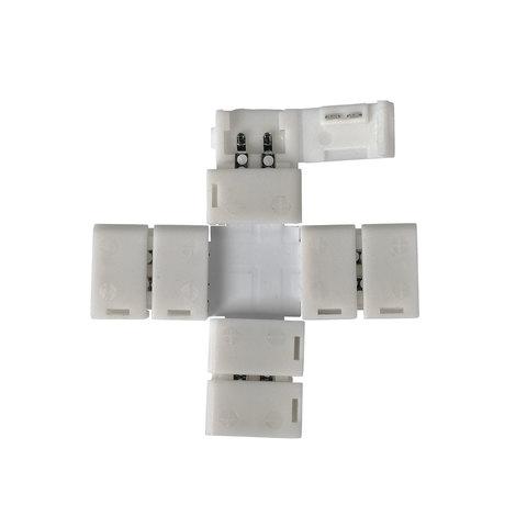 X-образный коннектор для одноцветной светодиодной ленты 3528, 2835 (5 шт.) LED 1X