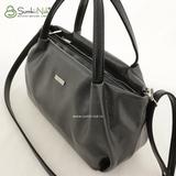 Сумка Саломея 334 серый + черный