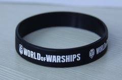 World of Tanks. Браслет силиконовый WoT, WoWS чёрный
