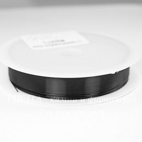 Проволока медная 0,4 мм, цвет - черный, примерно 15 метров