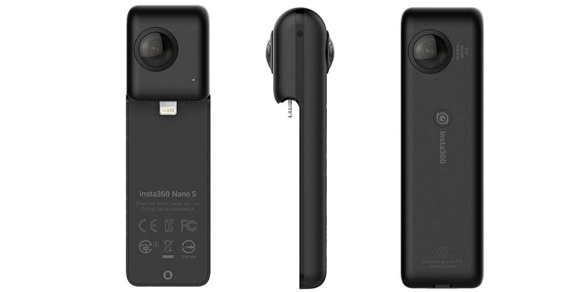 Камера Insta360 Nano S Black со всех сторон