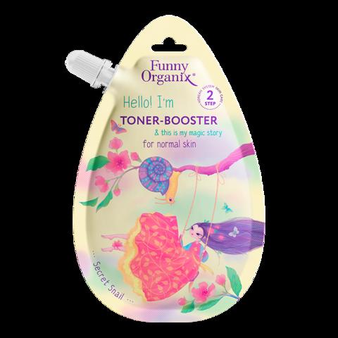 Funny Organix Secret Snail & Healing Herbs Тонер-бустер для лица для нормальной кожи 20 мл