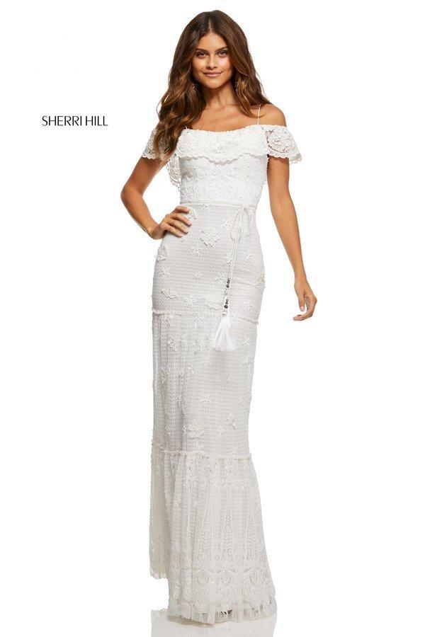 Sherri Hill 52688 Кружевное, длинное платье