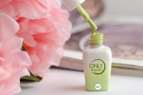 Гель-лак Only French, Green Touch №547, 7ml