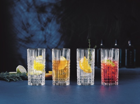 Square Longdrink Set 4