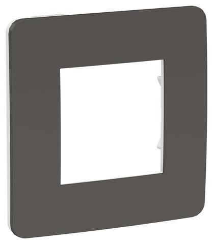 Рамка на 1 пост. Цвет Дымчато-серый/белый. Schneider Electric Unica Studio. NU280221