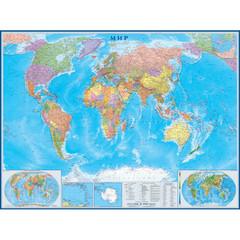 Настенная карта Мир 1,58х1,18м 1:22млн политическая