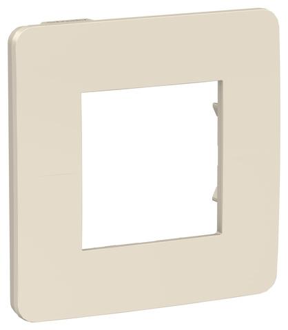 Рамка на 1 пост. Цвет Бежевый/бежевый. Schneider Electric Unica Studio. NU280244