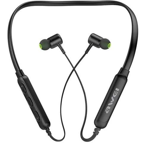 Наушники вакуумные Bluetooth AWEI G30BL, black (с ободом)