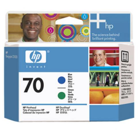 печатающая головка HP 70 Blue-Green
