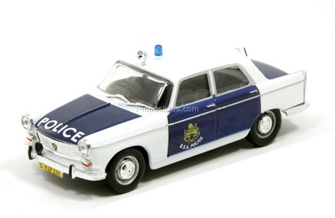 Peugeot 404 British Police South Africa 1:43 DeAgostini World's Police Car #47