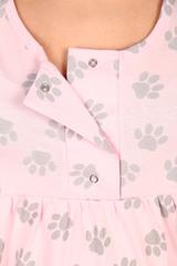 Мамаландия. Комплект для беременных и кормящих халат и сорочка, лапки/серый вид 4