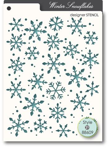 Маска-трафарет Snowflakes stencil