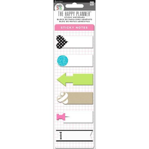 Закладки-стикеры Create 365 Happy Planner Sticky Notes  -6 дизайнов/20 шт