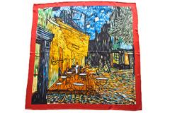 Итальянский шелковый платок с картиной Ван Гога