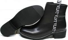 Ботинки полусапожки женские Jina 6845 Leather Black.