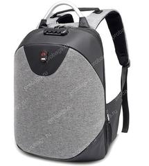 Рюкзак Антивор с кодовым замком FS958 Светло-серый