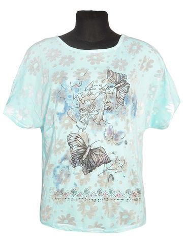 L810-7 футболка женская, голубая