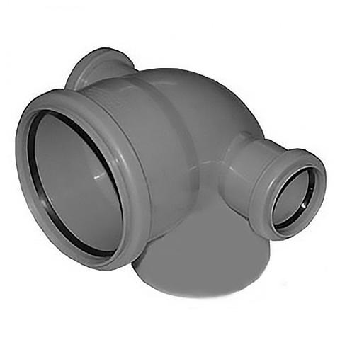 Отвод 87° с двумя патрубками СИНИКОН - 110 x 50 (для системы внутренней канализации)