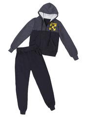 BL23-2 спортивный костюм детский, серо-синий