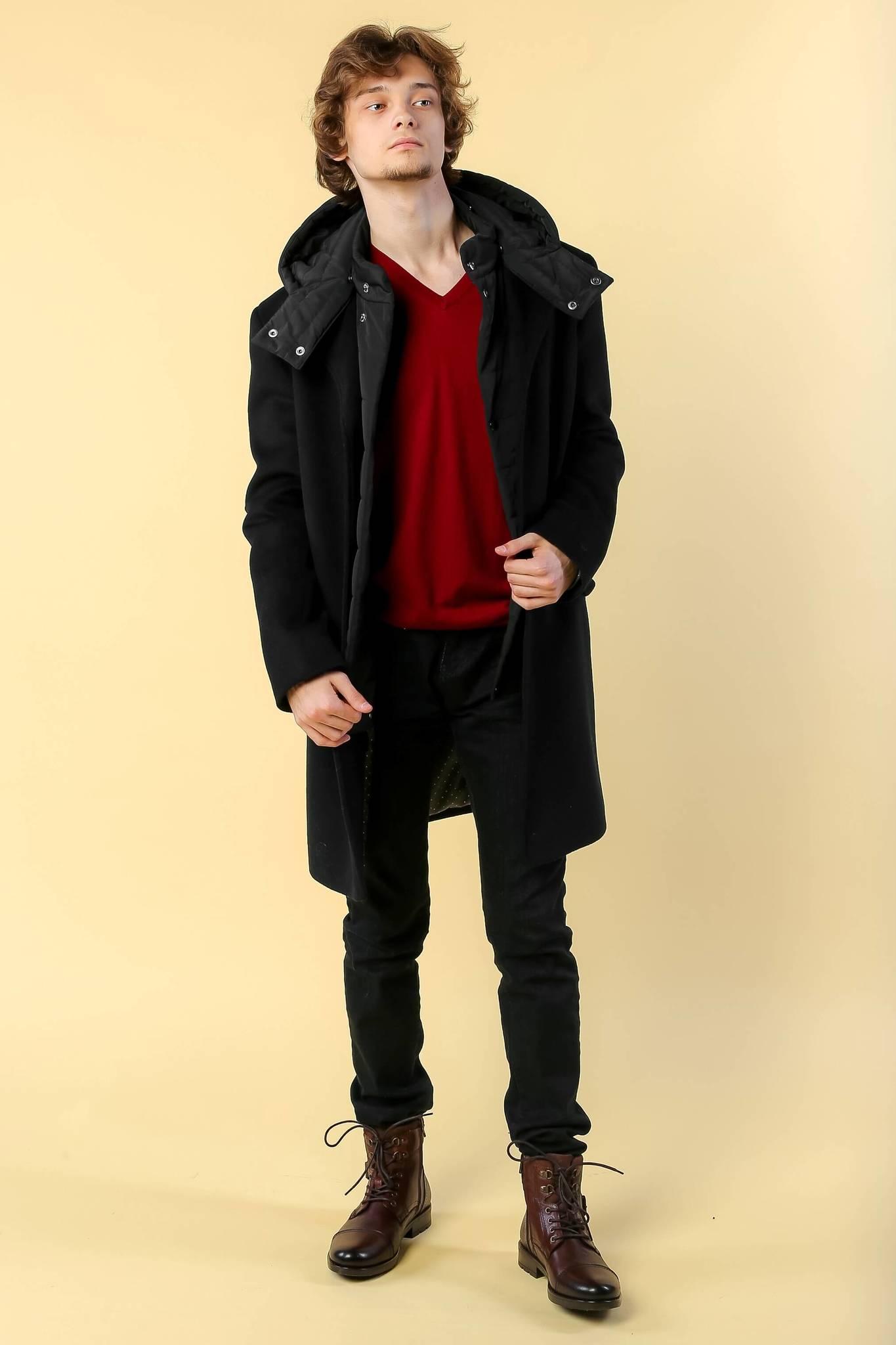 Пальто-трансформер зимнее с капюшоном