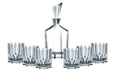 ASPEN - Набор 7 предметов для виски: декантер + 6 стаканов