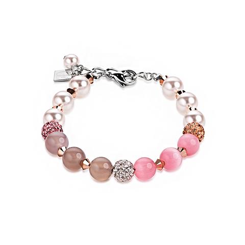 Браслет Coeur de Lion 4832/30-1900 цвет розовый, бежевый