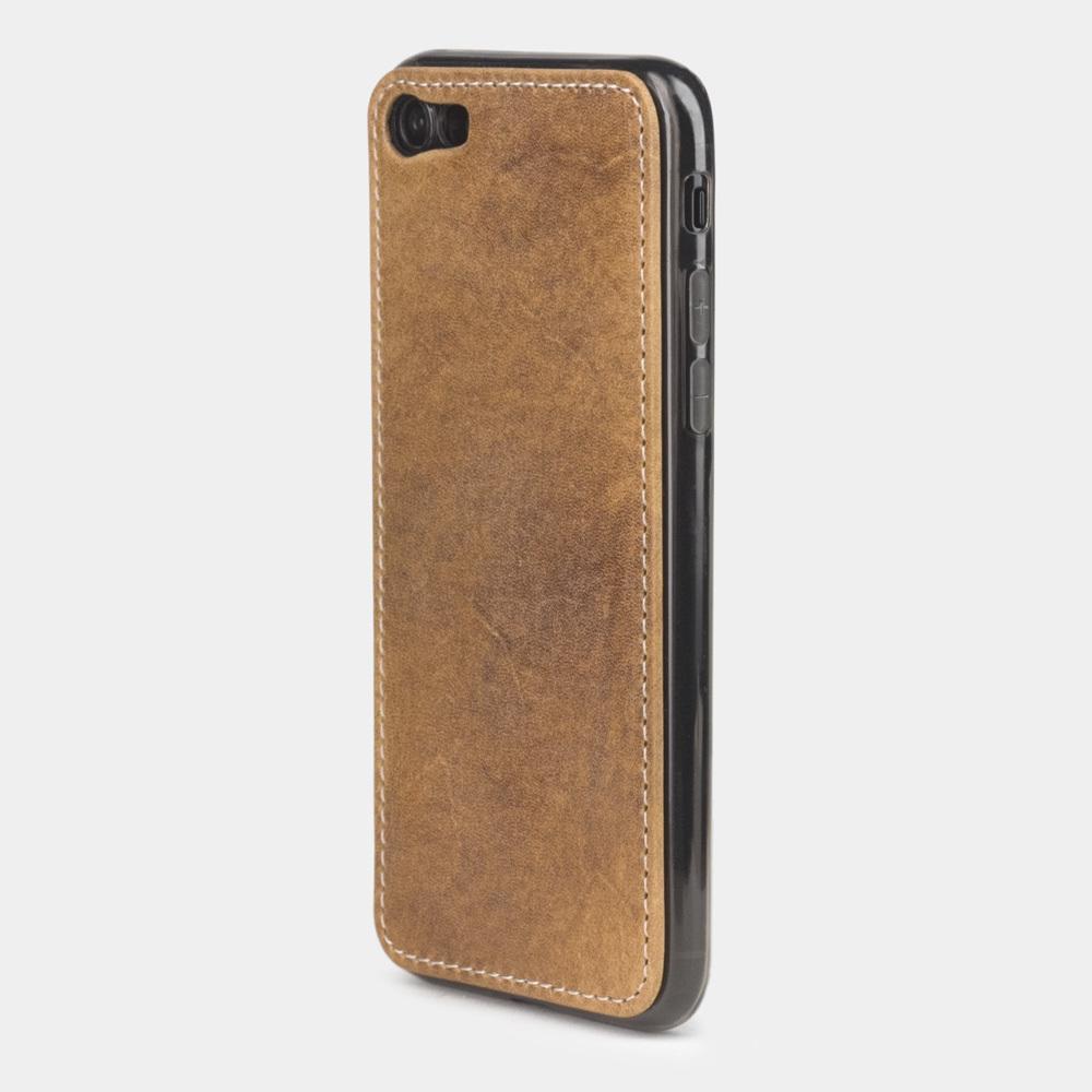 Чехол-накладка для iPhone 8 из натуральной кожи теленка, цвета винтаж