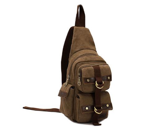 BAG393-2 Городской рюкзак из ткани с одной лямкой через плечо