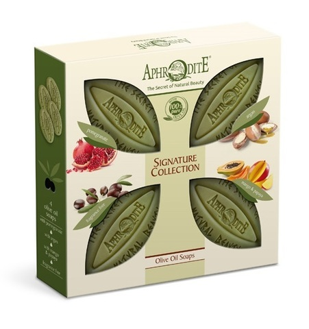 Набор оливкового мыла Фирменная коллекция 4 шт