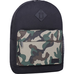 Рюкзак Bagland Молодежный W/R 17 л. черный/камуфляж (00533662)
