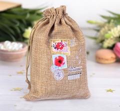 Джутовые мешочки для подарков