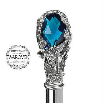 Зонт-трость Pasotti Luxury Blue Gem Handle, Италия