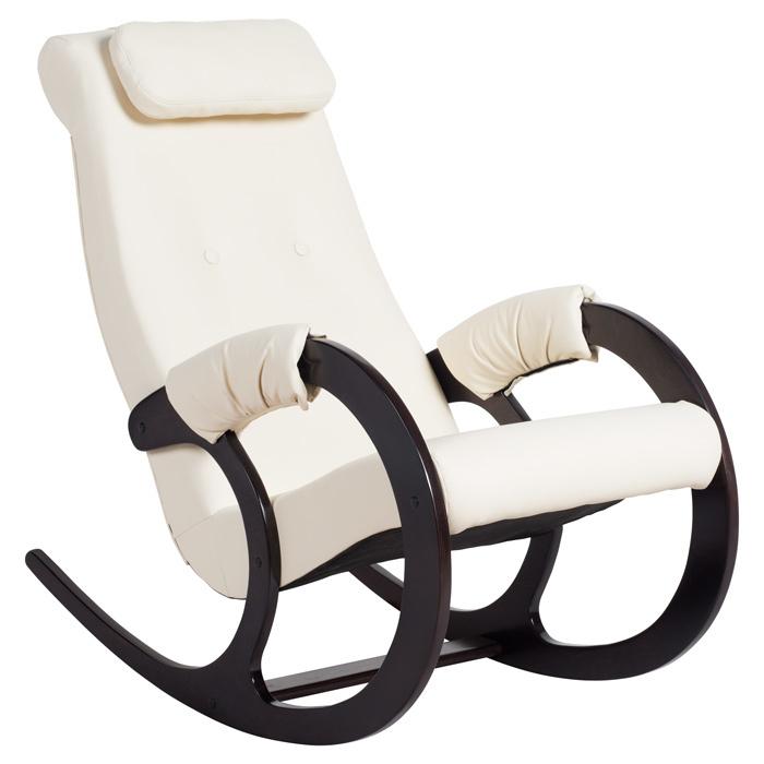Классические Кресло-качалка Блюз Экокожа (Cream) bluz-krem.jpg