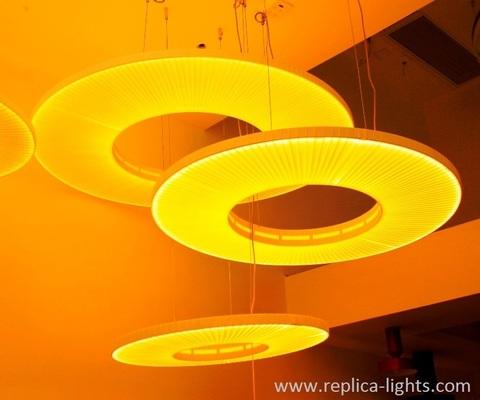 replica IRIS round pendant by Dix heures dix ( yellow +60 cm )