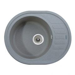 Мойка Kaiser (Кайзер) KGMO-6250-G Grey для кухни из искусственного камня, круглая (овальная)