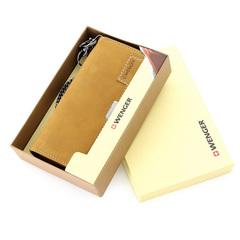 Портмоне Wenger W11-18BROWN Wildspitz, коричневый, кожа нубук, 17,5х3х9,5см