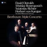David Oistrakh, Mstislav Rostropovich, Sviatoslav Richter, Herbert von Karajan, Berliner Philharmoniker / Beethoven: Triple Concerto (LP)