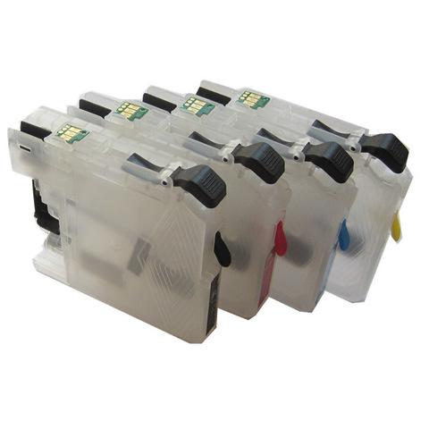 Заправляемые картриджи Brother LC663, LC665, LC667, LC669. Комплект 4 штуки с авточипами.