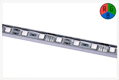 Жесткая светодиодная линейка в алюминиевом кейсе MTF Light 5A2A305WM 50 см (RGB)