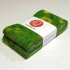 ЛЕНТА ДЛЯ ЛОСКУТНОГО ШИТЬЯ зеленый одуванчик