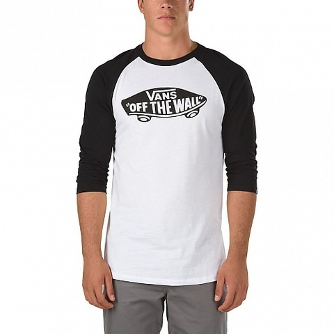 Лонгслив VANS OFF THE WALL Raglan Белый/Черный