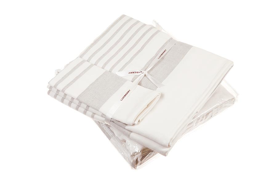 Наборы полотенец Набор полотенец 3 шт Luxberry SPA 2 белый/льняной nabor-polotenets-3-sht-luxberry-spa-2-belyylnyanoy-portugaliya.jpg