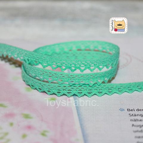 Кружево вязаное СК06-М (мятное) 90см