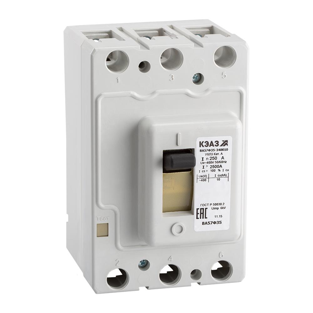 Выключатель автоматический ВА57Ф35-340010-40А-400-400AC-УХЛ3-КЭАЗ