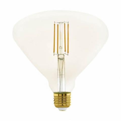 Лампа LED филаментная диммируемая из стекла янтарного цвета Eglo MID SIZE LM-LED-E27 4W 380Lm 2200K BR150 11837