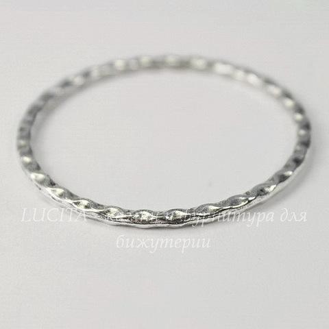 Коннектор - кольцо 38 мм (цвет - античное серебро)